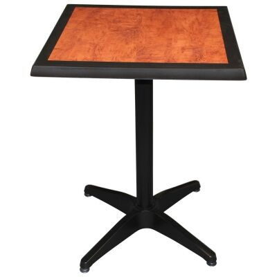 Mestre Commercial Grade Square Dining Table, 60cm, Cherrywood / Black