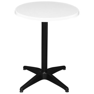 Mestre Commercial Grade Round Dining Table, 60cm, White / Black