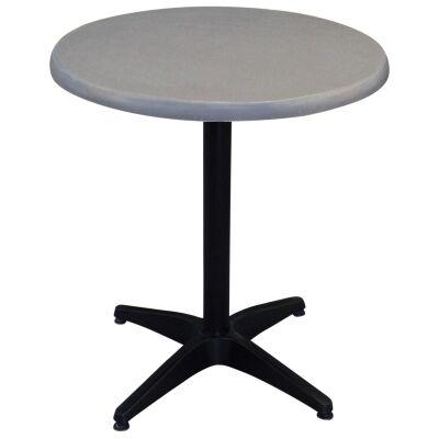 Mestre Commercial Grade Round Dining Table, 70cm, Granite / Black