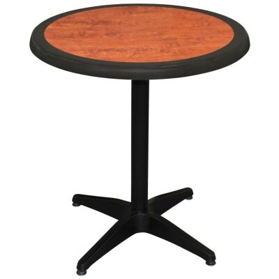 Mestre Commercial Grade Round Dining Table, 80cm, Cherrywood / Black