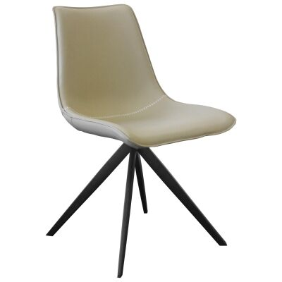 Astro PU Leather Dining Chair, Taupe