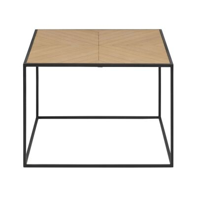 Rudi Paulownia Wood & Iron Coffee Table, Square, 60cm