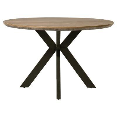 Axle Round Dining Table, 120cm, Sonoma Oak
