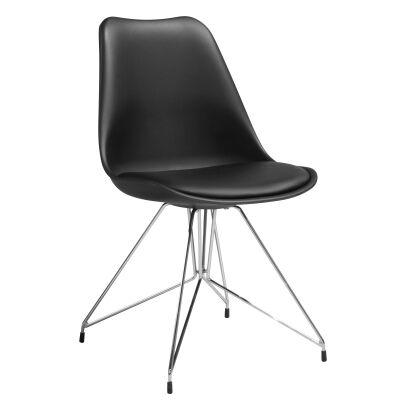 Soho Chair, Black / Silver