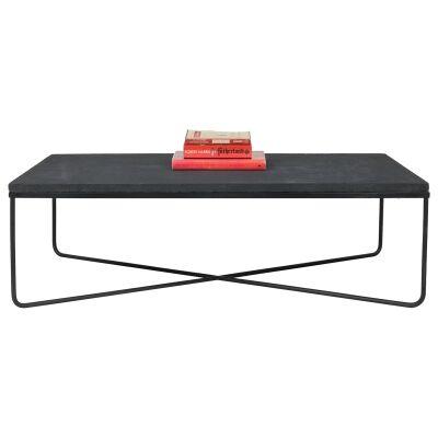 Lyra Commercial Grade Lava Stone Top Coffee Table, 100cm