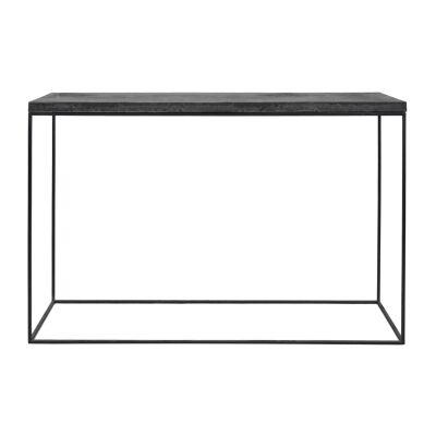 Josie Commercial Grade Concrete & Steel Console Table, 120cm, Black