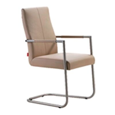 Studio Full Leather Dining Armchair - Mocha