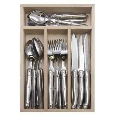 Andre Verdier Debutant Cutlery Set, 24 Piece, Stainless Steel