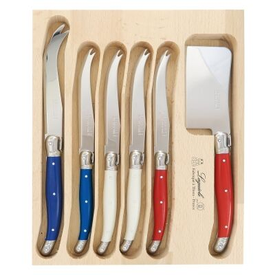 Andre Verdier Debutant Cheese Knife Set, 6 Piece, Francais