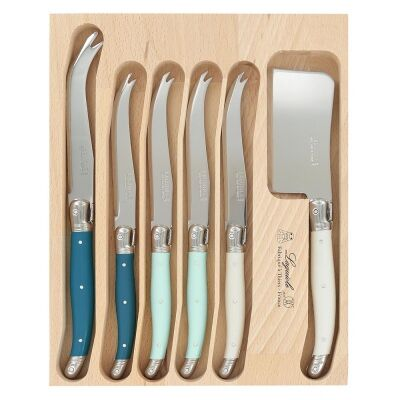 Andre Verdier Debutant Cheese Knife Set, 6 Piece, St Tropes