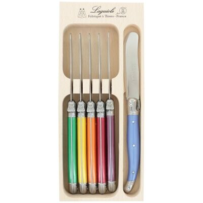 Andre Verdier Debutant Butter Knife Set, 6 Piece, Multi-I