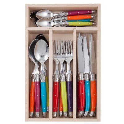 Andre Verdier Debutant Cutlery Set, 24 Piece, Multi