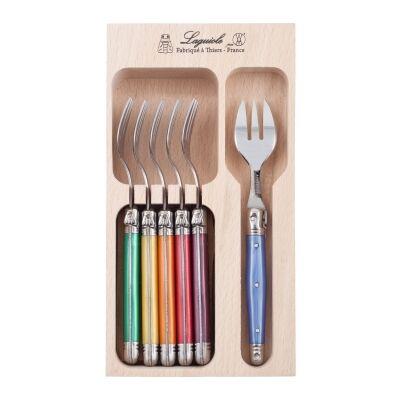 Andre Verdier Debutant Cake Fork Set, 6 Piece, Multi