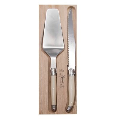 Andre Verdier Debutant Cake Knife & Server Set, Ivory