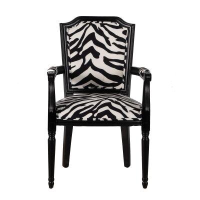 Regal Zebra Fabric Armchair