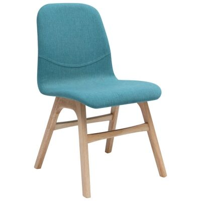 Ava Commercial Grade Fabric Dining Chair, Emerald / Natural