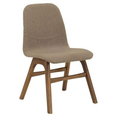 Ava Commercial Grade Fabric Dining Chair, Tea / Cocoa