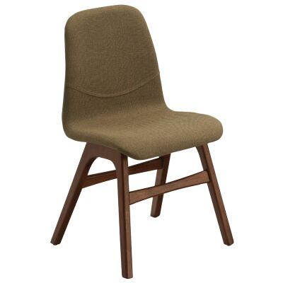 Ava Commercial Grade Fabric Dining Chair, Latte / Cocoa