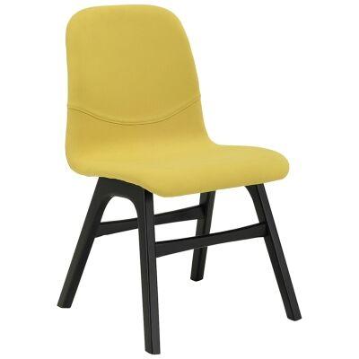 Ava Commercial Grade Fabric Dining Chair, Pistachio / Ebony