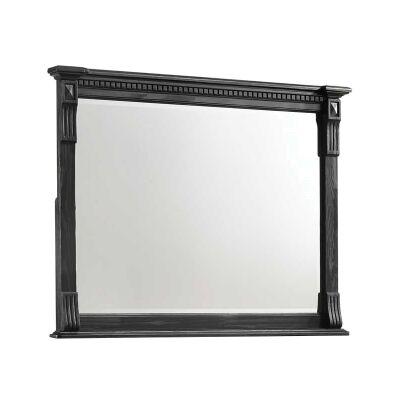 Stanwell Timber Frame Dressing Mirror, 123cm, Aged Black