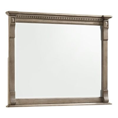 Stanwell Timber Frame Dressing Mirror, 123cm, Provincial Grey