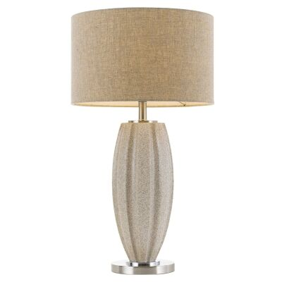 Axis Ceramic Base Table Lamp, Cream Granite