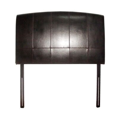 Austin Bycast Leather King Single Bedhead - Dark Brown
