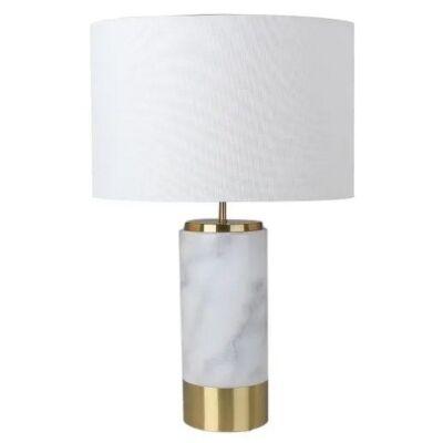 Paola Marble Base Table Lamp, White