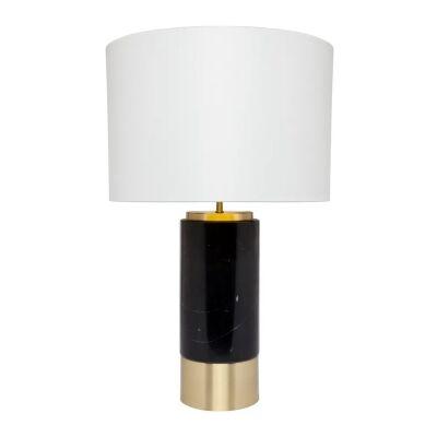 Paola Marble Base Table Lamp, Black / White