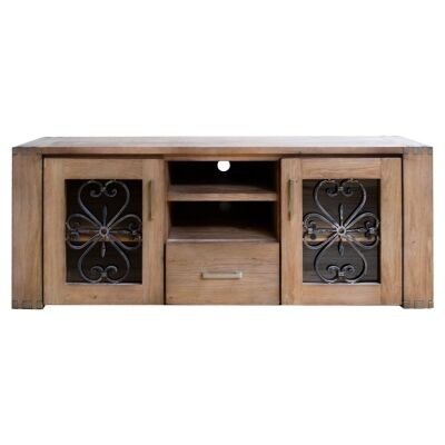 Enrifield Mountain Ash Timber TV Unit, 165cm