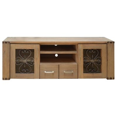 Enrifield Mountain Ash Timber TV Unit, 180cm
