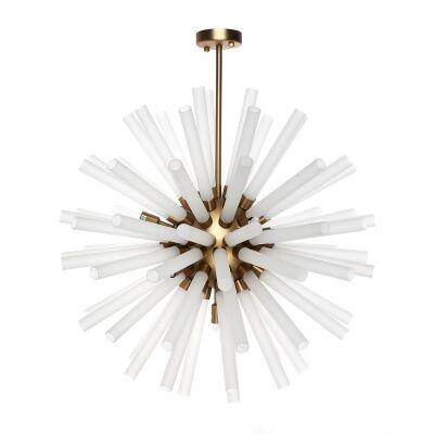 Atomic Glass & Metal Pendant Light, Medium
