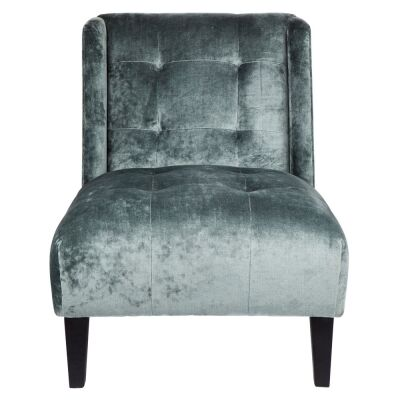 Duchess Fabric Lounge Chair, Dark Seafoam
