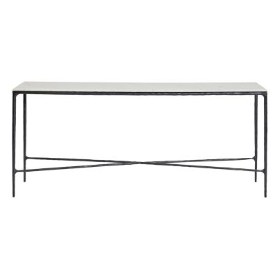 Heston Marble & Iron Console Table, 180cm, Black