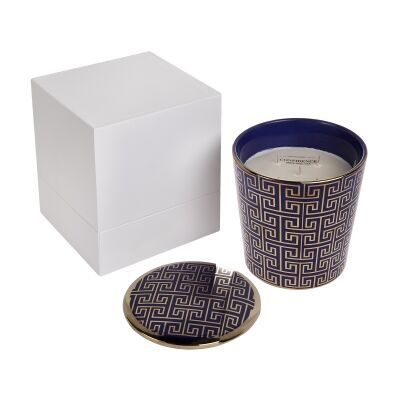 Greek Key Candle, Sage Oak Scent