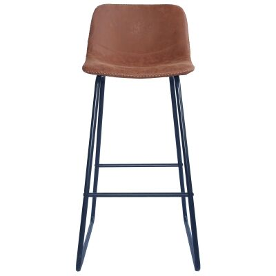 Berry Fax Leather Bar Stool, Tan