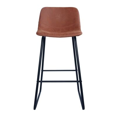 Berry Faux Leather Counter Stool, Tan