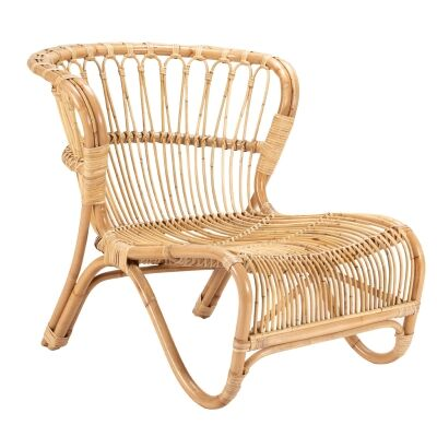 Brades Rattan Lounge Chair, Natural