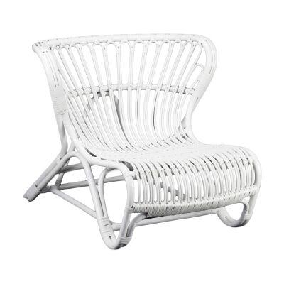 Brades Rattan Lounge Chair, White