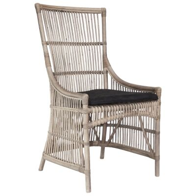 Filton Rattan Dining Chair, White Wash