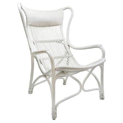 Filton Rattan Armchair - White