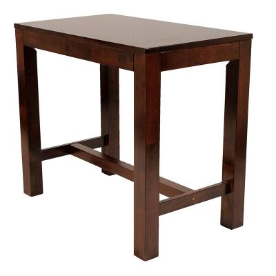 Chunk Commercial Grade Rubberwood Bar Table, 120cm, Walnut