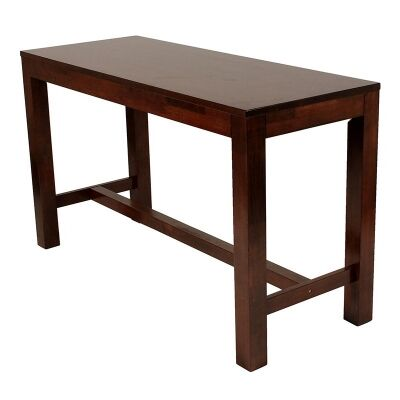Chunk Commercial Grade Rubberwood Bar Table, 180cm, Walnut