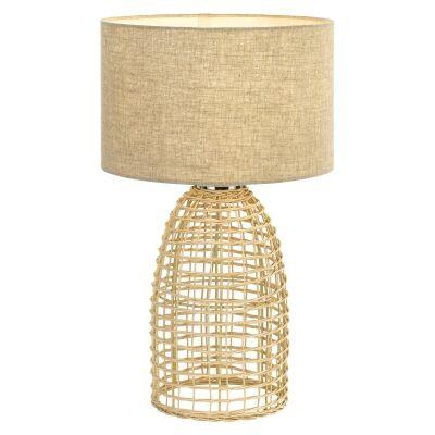 Bayz Rattan Base Table Lamp, large,  Sand