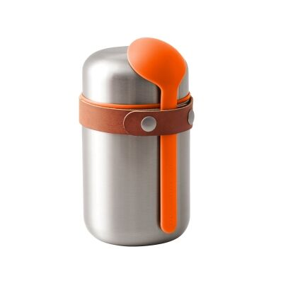 Black + Blum Stainless Steel Food Flask, 400ml, Orange