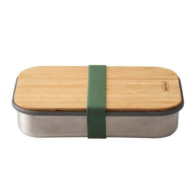 Black + Blum Stainless Steel Sandwich Box, 900ml, Olive