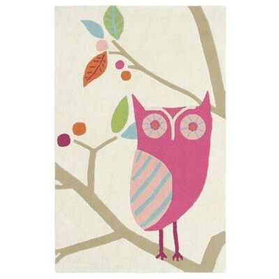 Harlequin What A Hoot Hand Tufted Designer Kids Wool Rug, 180x120cm, Candy