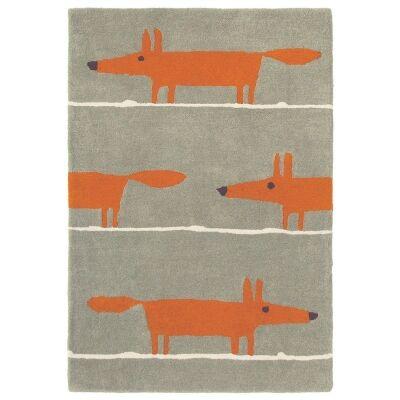 Scion Mr Fox Hand Tufted Designer Wool Rug, 150x90cm, Cinnamon