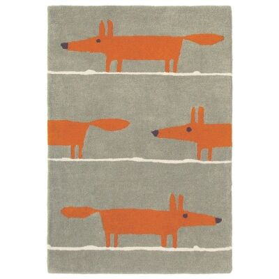 Scion Mr Fox Hand Tufted Designer Wool Rug, 180x120cm, Cinnamon