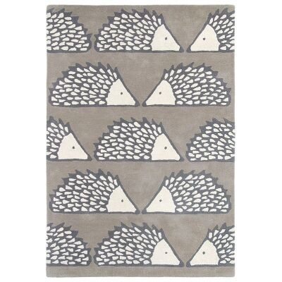 Scion Spike Hand Tufted Designer Wool Rug, 180x120cm, Pumice